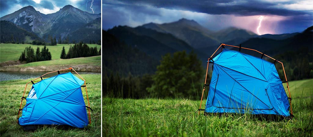Tent With Lighting Strike Protection