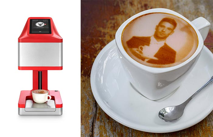 The Ripple Maker Machine And Portrait On Coffee