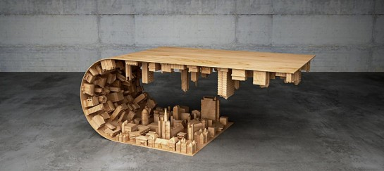 Wave City Coffee Table | Inspired By The Movie 'Inception'