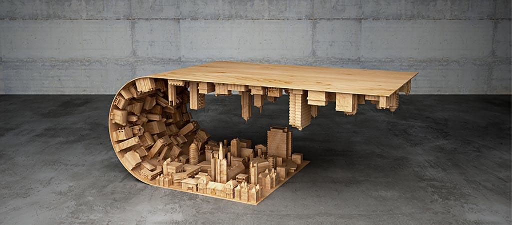 Wave City Coffee Table