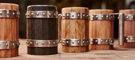 Wooden Beer Mugs | By Green Shield Workshop
