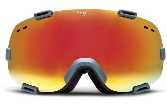 Zeal Voyager Goggles, phoenix, front view, on a white background.