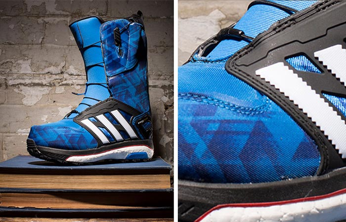 Blue Adidas Energy Boost Boots