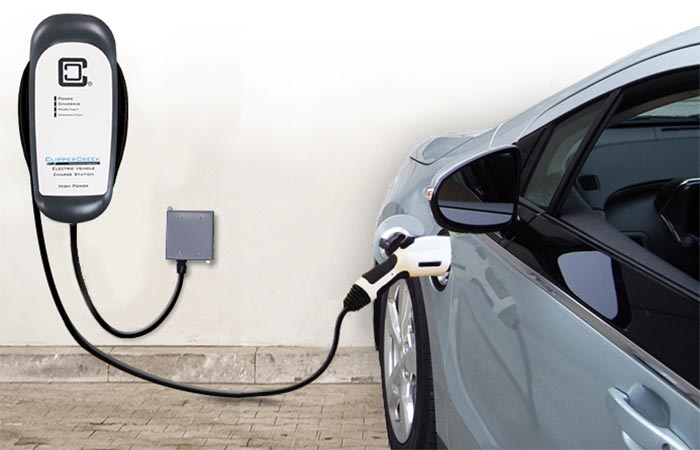 A Car Charging Via ClipperCreek HCS-40