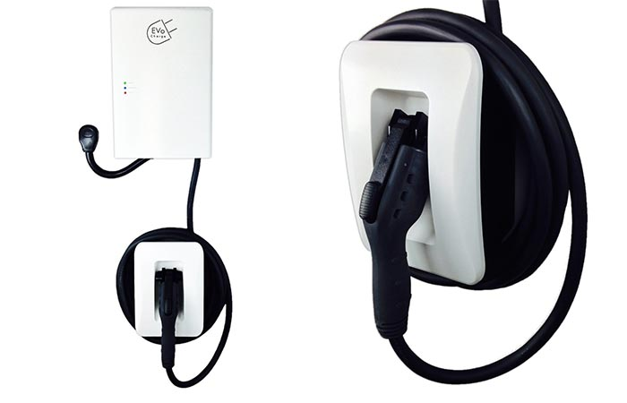 White EVoCharge EVSE Electric Car Charger