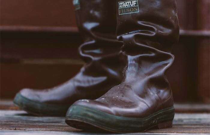Wearing the Filson XtraTuf Legacy Boots