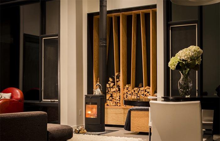 Indoor Fireplace In The Living Room