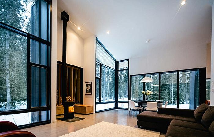 Living Room In Pioneer Cabin