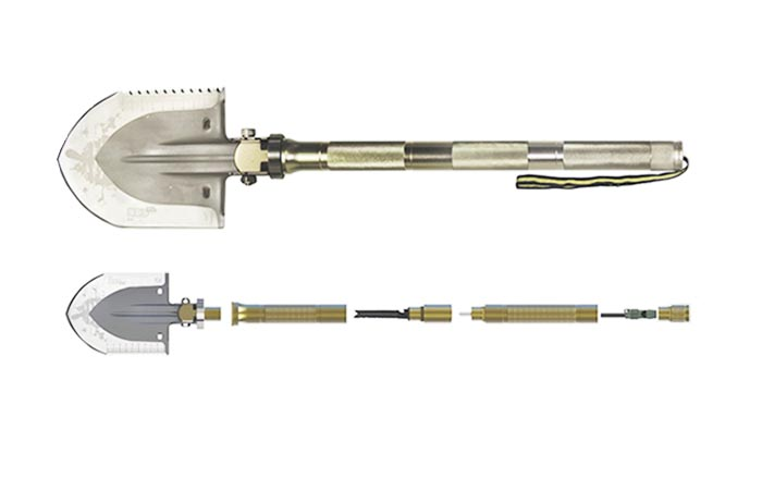 Different Segments Of Multi-function Folding Shovel