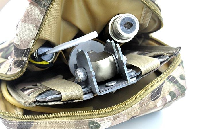 Multi-function Folding Shovel Packed In A Bag