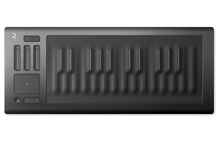 Roli Seaboard Rise, front view, on a white background.