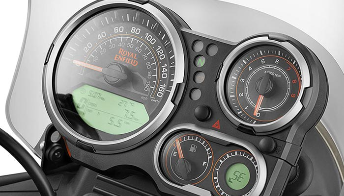 Speedometer captured from above.