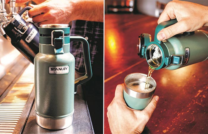 Pouring Beer From Stanley Insulated Growler