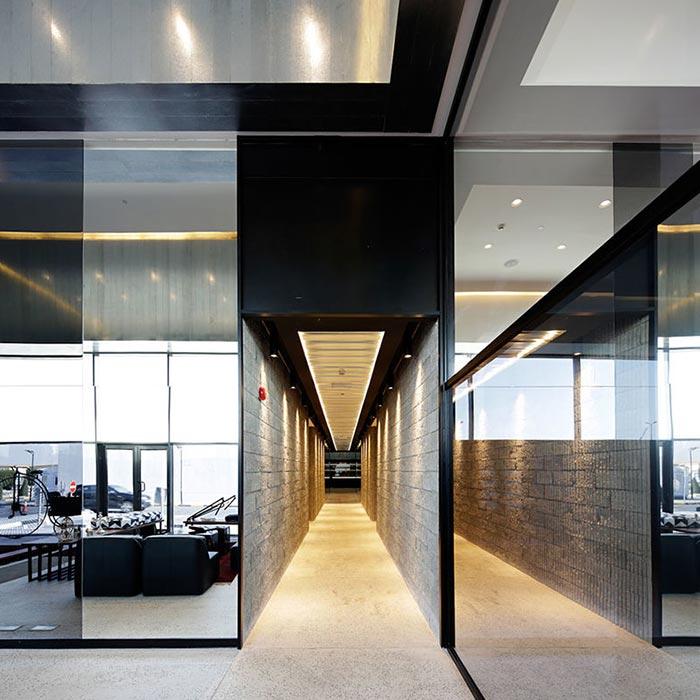 Glass corridor captured.