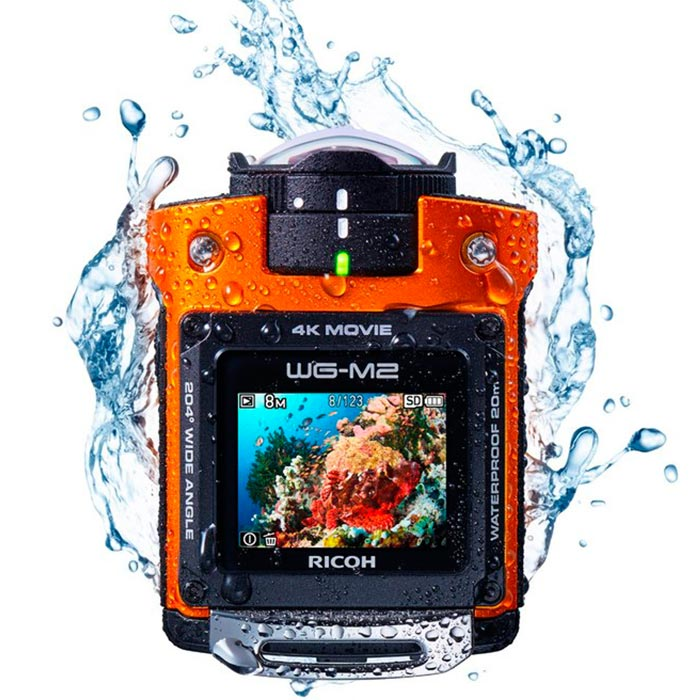 Camera with water around it.