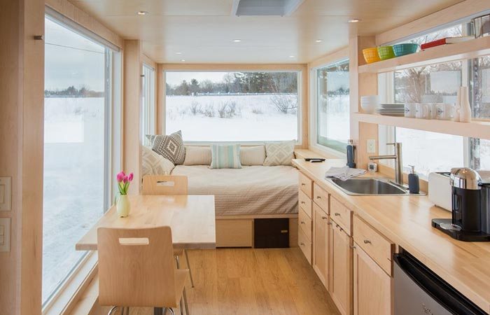 the living area captured from the inside - Inside Of Tiny Houses