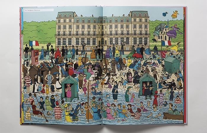 Trouville Beach From The Book Where's Warhol?