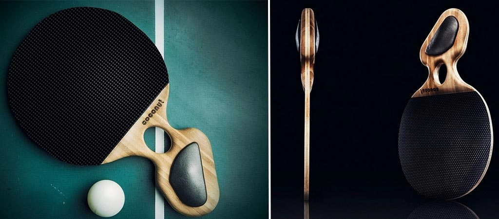 coconut bampoo ping-pong paddle