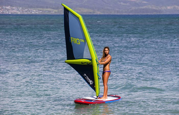 Irig One Inflatable Windsurfing Rig That Sails On Air