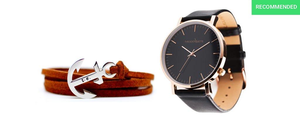 Thread Etiquette watch and bracelet