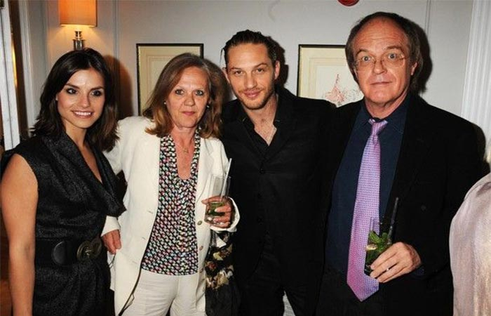 Tom Hardy with family