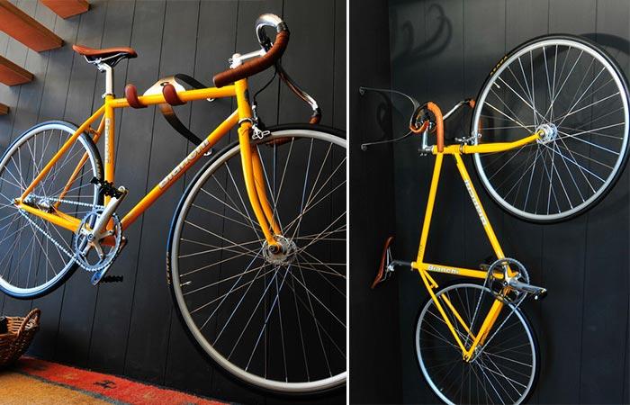 Yellow Bike On A Cactus Tongue SSL Bike Hanger
