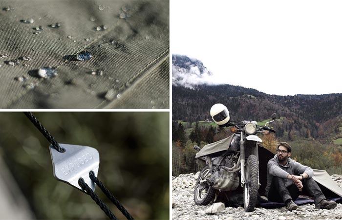 Three Images Of Exposed Bivouac