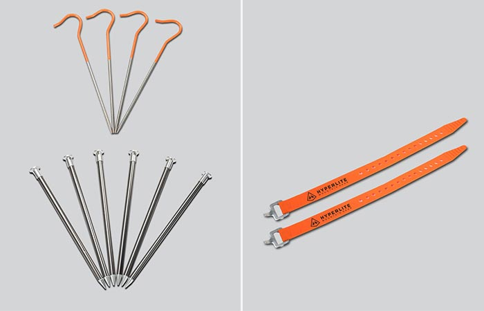 Ultralight Stake Kit I And UltaMid Pole Straps