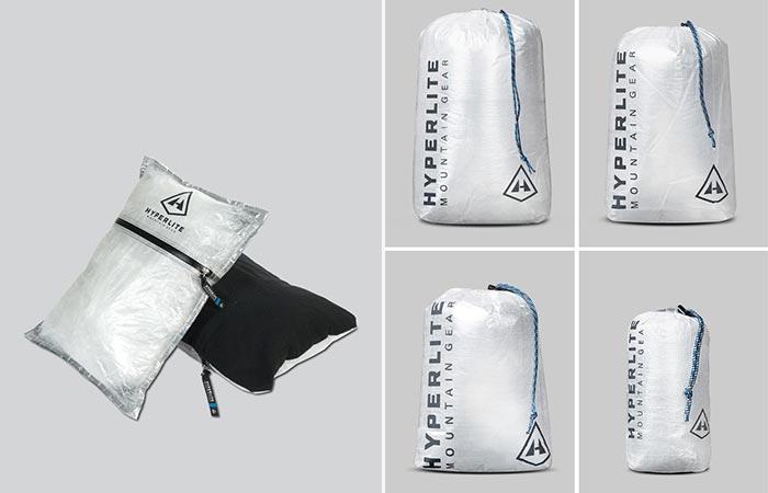 Large CF8 Stuff Sack Pillow and 4 different sized CF8 Stuff Sacks