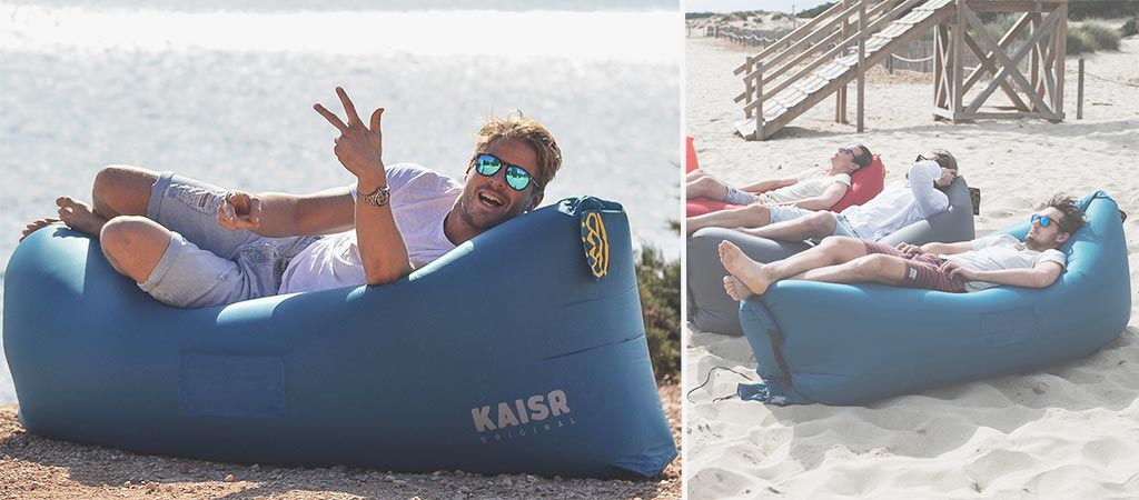 Kaisr original inflatable sofa lounger Camping blow up sofa