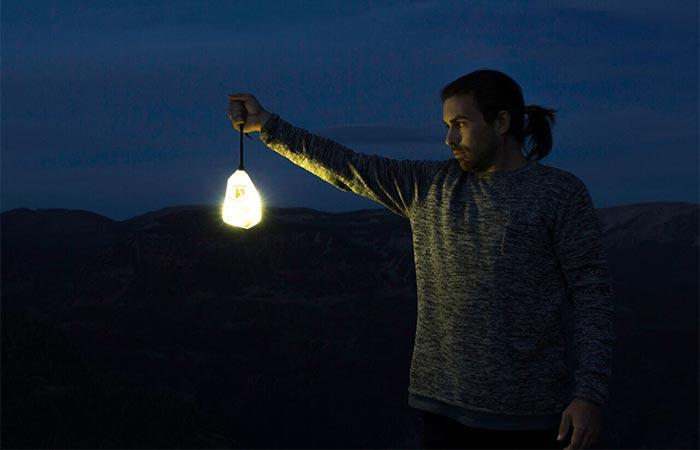 Luminoodle used as a lantern