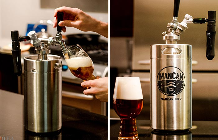 Pouring Beer With Mancan Personal Keg System