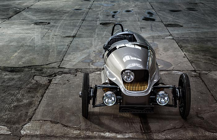 Morgan EV3 Electric Car From The Front