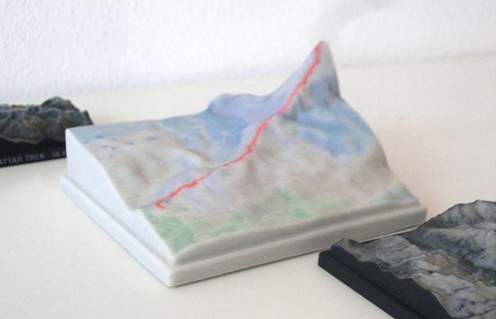 White Nicetrails 3D Printed Model
