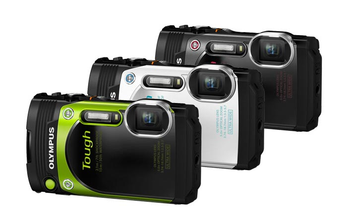 Three Colors Of Olympus TG-870 Tough Waterproof Digital Camera