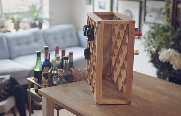 Pinetti Wine Rack On A Table