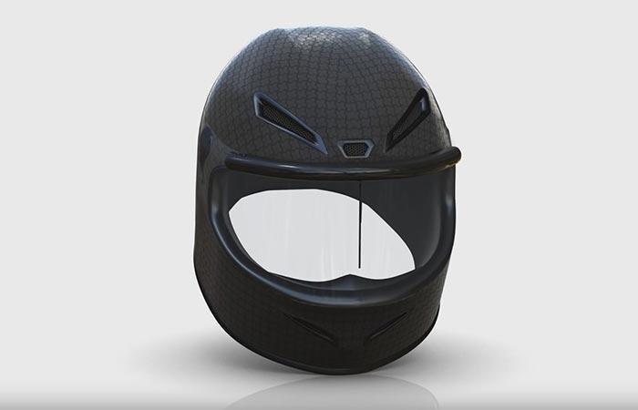 Rainpal On A Black Motorcycle Helmet