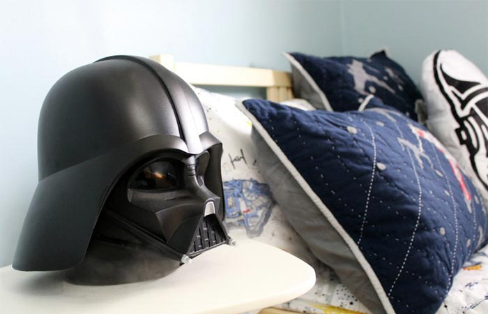 Darth Vader Humidifier On A Table Next To The Bed