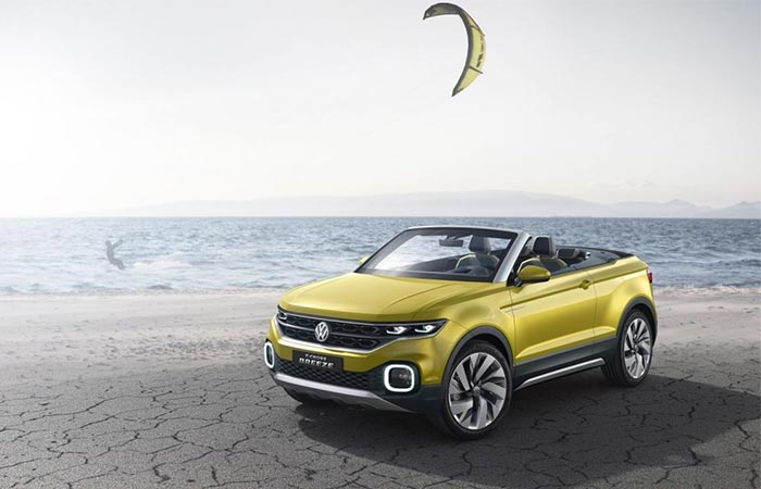 The Front Of Volkswagen T-Cross Breeze Convertible SUV
