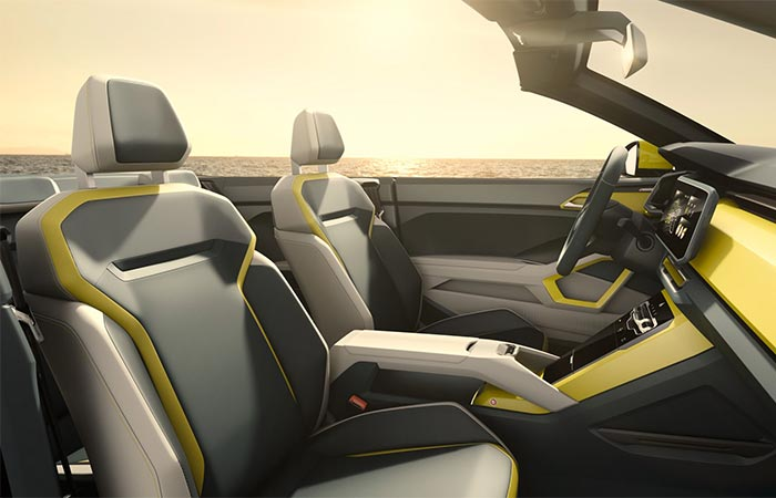 Front Seats On The Volkswagen T-Cross Breeze Convertible SUV