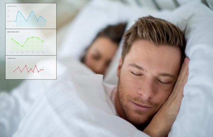 Balluga Smart Bed with sleep monitor sensor readings