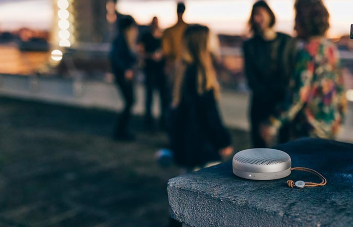The Beoplay A1 being used at an outdoor party
