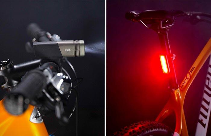 Front And Rear Knog LED Bike Lights