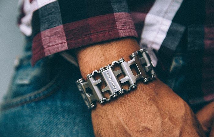 Leatherman Tread Bracelet On A Wrist