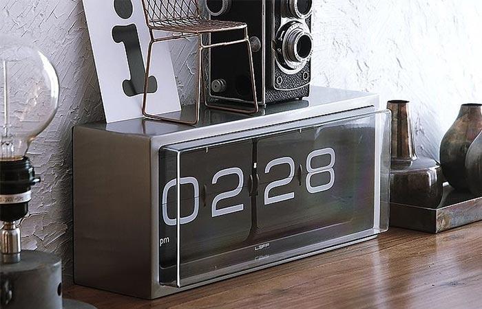 Leff Amsterdam Brick Steel Black Clock