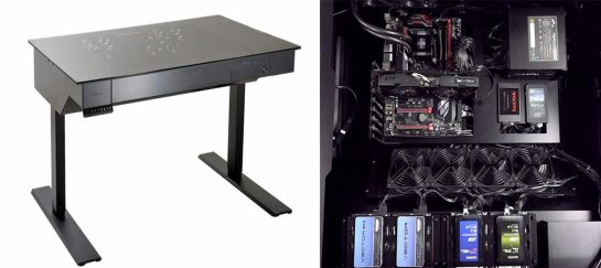 Lian-Li DK-04 | Standing Desk PC Gaming Rig Chassis