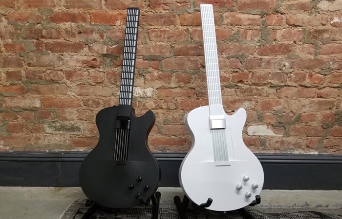Black And White MI Guitar