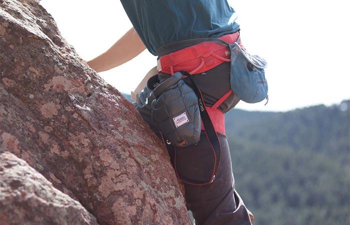 A Climber With Matador Camera Base Layer
