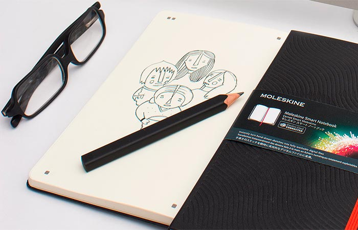 A Drawing On Moleskine Smart Notebook