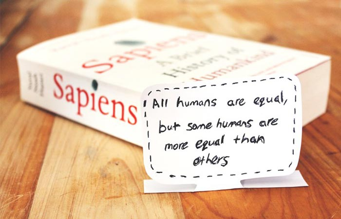 The Book Sapiens: A Brief History of Humankind And A Quote From The Book